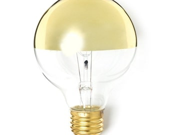 Gold Dipped Light Bulb - medium base