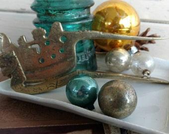 Vintage Brass Asian Themed Nutcracker - Retro Kitchen Utensil, Mid Century Holiday Nutcracker, Asian Themed Decor, OOAK Vintage Brass Gift