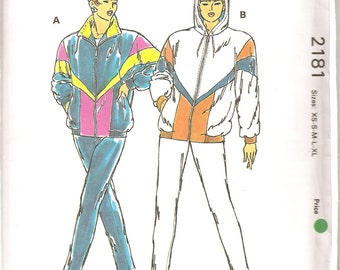 Vintage Sewing Pattern. 1992 Kwik Sew 2181. Misses' Wind Suits. Sizes XS, S, M, L, XL. See photos for details. FF and uncut.
