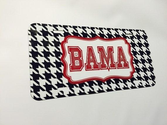 Car Tags: Personalized Car Tag Bama Fans Alabama Monogrammed