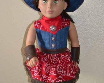 Cowgirl ensemble for 18 inch doll