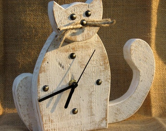 "Selfstanding clock ""Cat"""