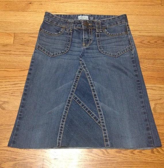 size 3 4 jean skirt knee length denim skirt