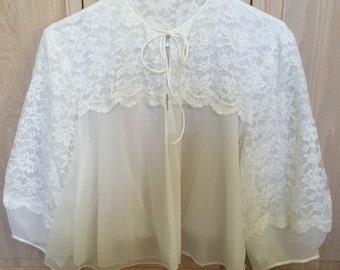 Glamorous White Bedjacket