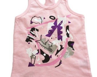 SALE 6m The Picasso Shirt | pink | unique | one of a kind | kids style | Kids Shirt | Toddler shirts | Eclectic