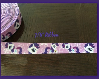 My Little Pony RARITY 7/8 inch Grosgrain ribbon