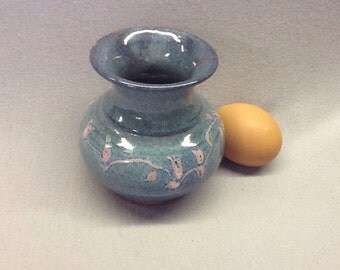 Vase with tutti fruitti glaze.