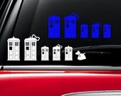Doctor Who inspired Tardis family car Decal Dr Who Sticker Dr Who Decal Doctor Who sticker Dr Who car Doctor Who car