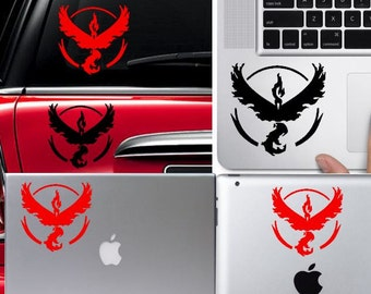 Pokemon Go Team Valor electronic decal car sticker skin