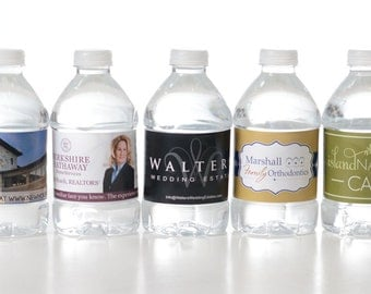 200 Custom Water Bottle Labels - Your Business Logo or Design - Custom Logo Water Bottle Labels - Business Water Bottle Labels