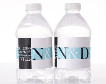 Custom Wedding Decor - 100 Wedding Water Bottle Labels - Wedding Water Labels - Custom Water Bottle Labels - Waterproof Water Bottle Labels
