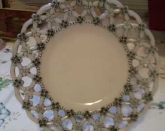 Lace and Flowers Cookie or Candy Dish