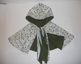 Girls Hooded Cape