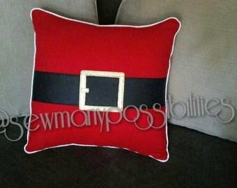 Christmas pillow, Santa suit pillow, Holiday pillow, merry Christmas, elf pillow, Christmas  decorations