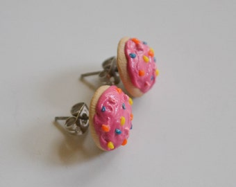 Pink Sugar Cookie Earrings