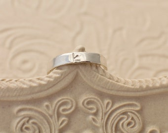 Personalized Toe Ring - Hand Stamped Jewelry - Personalized Jewelry - Stamped Ring - Initial Ring - Custom Initial Ring - Sterling Silver