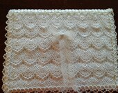 Elegant pearl and bridal lace covered guest book Donna Su Domichcreations etsy