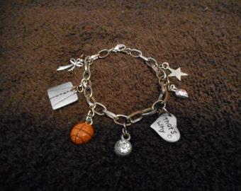 Vintage upcycled charm Bracelet