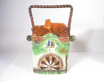 Mid Century Cottage Mill House Cookie Jar Biscuit Barrel - Made in England Biscuit Barrel