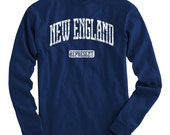 LS New England Represent Tee - Long Sleeve T-shirt - Men and Kids - S M L XL 2x 3x 4x - New England Shirt - 4 Colors