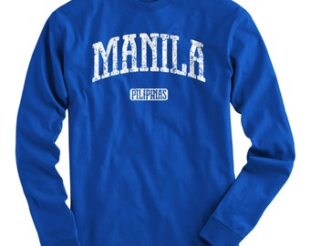 LS Manila Tee - Long Sleeve T-shirt - Men and Kids - S M L XL 2x 3x 4x - Manila Shirt, Philippines, Pilipinas, Filipino - 4 Colors