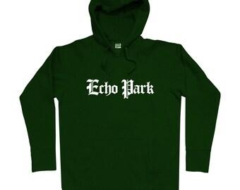 Echo Park L.A. Gothic Hoodie - Men S M L XL 2x 3x - Echo Park Hoody, Sweatshirt, Los Angeles, LA, California - 4 Colors