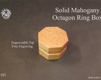 Proposal box, octagon with free shipping and engraving