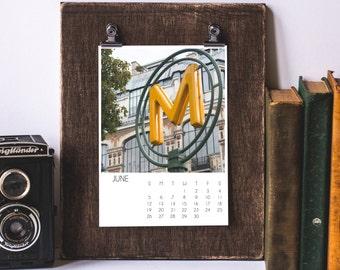 2016 Paris Calendar, Desk Calendar, Paris, France, Travel Photography, Office Decor, Gift for Her, Gift Idea, 2016 Calendar