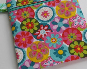 Zippered wet bag cosmetic pouch  by EcoAlternatives Catalina Island Summer Collection 2016