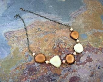 SALE - Tagua Nut Jewelry - Tagua Nut Necklace - Tagua - Nut Jewelry - Choker Style Necklace - Ecofriendly Jewelry