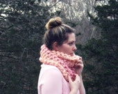 Ombre Puff Cowl in Papaya