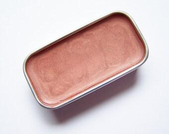 Rose Gold Mineral Lip Color - Zero Lipstick In A Tin - Vegan Mineral Makeup -  Cruelty Free Cosmetics