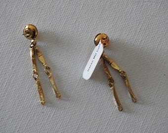 Medium Gold Stud Dangle Earring
