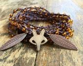 Foxy Fleas: Versatile crocheted necklace / bracelet / belt / headband