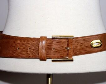 vtg 80s MONDI leather keyhole belt made in WEST GERMANY