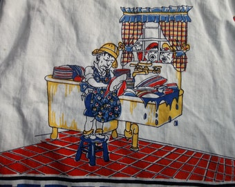Vintage  Kitchen Towel...KITSCH....New Condition...Free Shipping