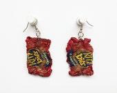 Mini Ritz Bits Bag Dangle Earrings