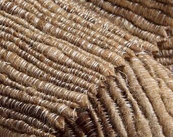 wild silk throw / blanket , handmade from 100 % wild silk