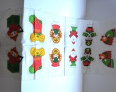 Vintage RARE Springs Mills  pattern 7470 Christmas toys 6 Ornament Panel Spring Mills , doll Fabric making Soft Toy