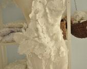 Bridal Lace Applique, Wedding Gown Lace Applique in Ivory