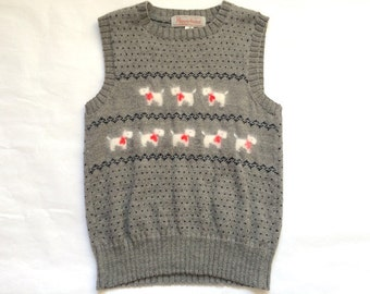 Vintage Scottie Dog Sweater Vest