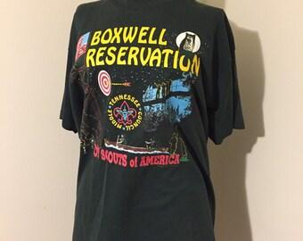 Vintage Boy Scouts Tshirt / Vintage Boy Scout / Boxwell Reservation / Boy Scouts / Scouts