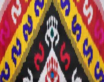 Sale! Ikat Fabric, Ikat Fabric by the yard, Hand Woven Fabric , F-A449