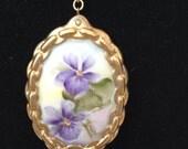 Vintage african violets on porcelain china set