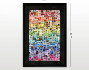 Large Stamp Rainbow Gradient Art