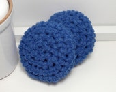 Blue Scrubby - Kitchen Scrubbies - Reusable Dish Scrubbies - Blue Scouring Pads - Set of 2