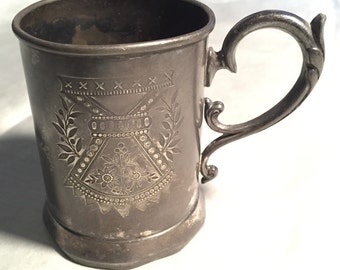 Antique silver baby cup