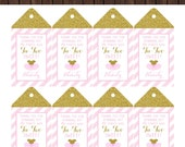 Tu-Tu or Tu-Two Ballet Birthday Favor Tags