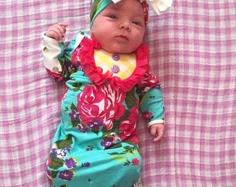 Floral Baby Girl Coming Home Gown