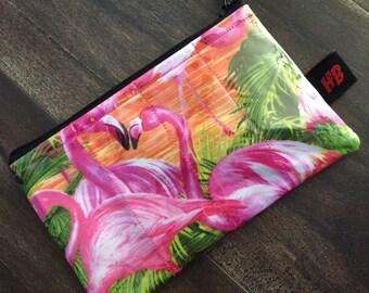 Handmade Tropical Flamingo Change Purse